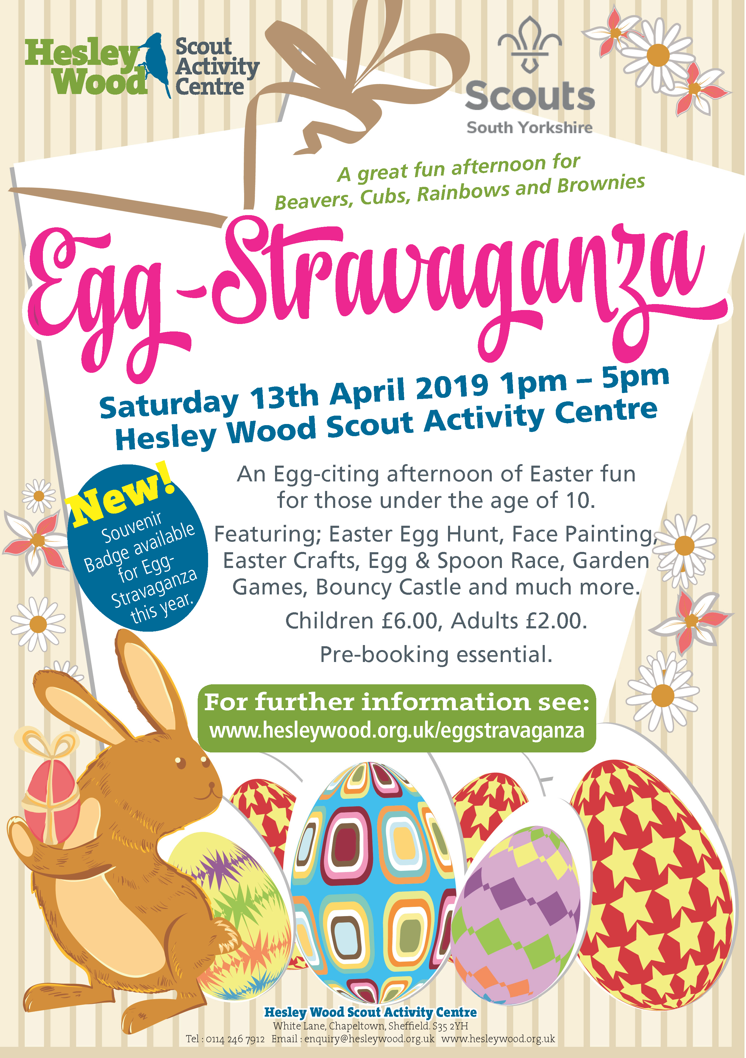 EasterEggstrav flyer A5
